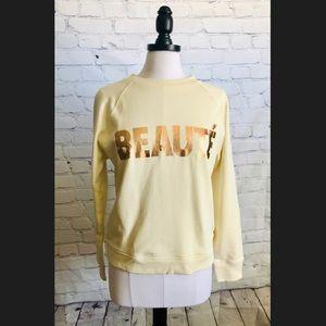 """NWOT J.Crew """"Beauté"""" Sweatshirt"""